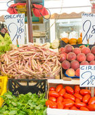 Fruits and vegetables at the market stall — Stock Photo