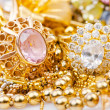 Large collection of gold jewellery — Stock Photo #16633727