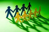 Papel en concepto de trabajo en equipo — Foto de Stock