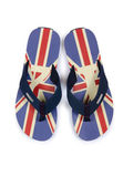 Flip flops with UK britain flag on white — Stock Photo