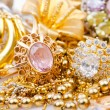 Large collection of gold jewellery — Stock Photo #17001137