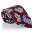 Elegant silk male tie ( necktie ) on white - Stock Photo