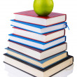 Back to school concept with books and apple — Stock Photo #18935515