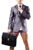 Nude businessman in business concept — Stock Photo