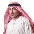 Diversity concept with arab on white — Stock Photo