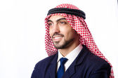 Arab businessman isolated on the white — Stock Photo