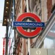 London underground symbol on street — Stock Photo