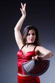 Female dancer dancing spanish dances — Stock Photo