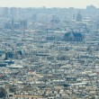 Skyline of Paris on bright summer day - Foto Stock