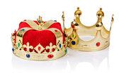 королевские короны, изолированные на белом — Стоковое фото