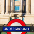 London underground symbol on street — Stock Photo #21761441