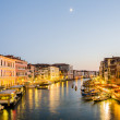 VENICE, ITALY - JUNE 30: View from Rialto bridge on June 30, 201 - Stock Photo