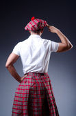 Scottish traditions concept with person wearing kilt — Stock Photo