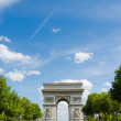 Arc de Triomphe in Paris - Stockfoto