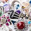 Royalty-Free Stock Photo: Collection of jewellery rings on white