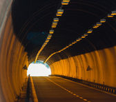 Light in the tonnel concept — Stock Photo
