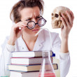 Crazy female chemist in lab — Stock Photo #22185731