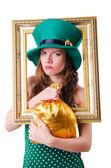 聖パトリックの祭典概念で若い女の子 — ストック写真