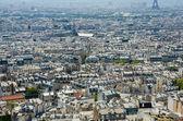 Skyline of Paris on bright summer day — Stock Photo