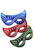 Máscaras de carnaval, isoladas no fundo branco — Foto Stock