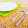 Stock Photo: Table setting with knife and fork