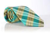 Elegant silk male tie ( necktie ) on white — Stock Photo