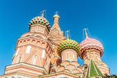 Famous st Vasily Blessed cathedral in Moscow — Stock Photo
