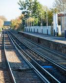 Rail tracks in bright summer day — Stock Photo