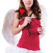 Woman with bow in valentine concept — Stock Photo #22943096