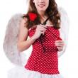 Stock Photo: Woman with bow in valentine concept
