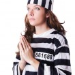Convict criminal in striped uniform - Foto de Stock  