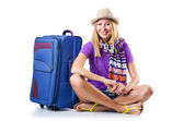 Attrative woman ready for summer vacation — Stock Photo