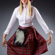 Scottish traditions concept with person wearing kilt — Stock Photo #22950614