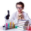Crazy female chemist in lab — Stock Photo #22954222