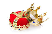 King crown isolated on white — Zdjęcie stockowe