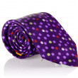 Elegant silk male tie ( necktie ) on white — Stock Photo