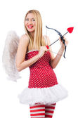 Woman with bow in valentine concept — Stock Photo
