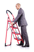 Businessman in career ladder concept — Stock Photo