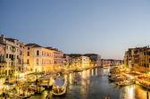 VENICE, ITALY - JUNE 30: View from Rialto bridge on June 30, 201 — Stock Photo