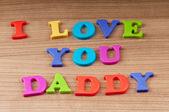 Me encanta tu mensaje de papá — Foto de Stock