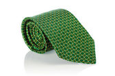 Elegant silk male tie ( necktie ) on white — Foto de Stock