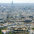 Skyline of Paris on bright summer day - Stockfoto