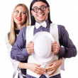 Pair in funny love concept - Stockfoto