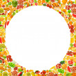 Silhoette made from various fruits and vegetables — Stock Photo #23656727