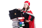 Woman queen in funny concept — Stock Photo