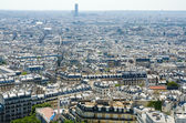 Skyline of Paris on bright summer day — Stock Photo