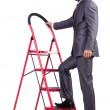 Stock Photo: Businessman in career ladder concept