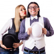 Stock Photo: Pair in funny love concept