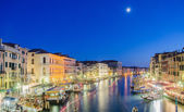 VENICE, ITALY - JUNE 30: View from Rialto bridge on June 30, 201 — Stock Photo