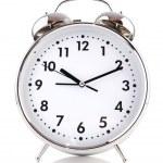 Alarm clock isolated on the white — Stock Photo